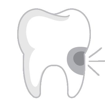 Ikon, tand med hål