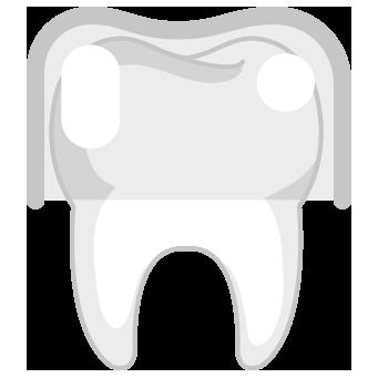 Ikon, tand med skydd ovanpå